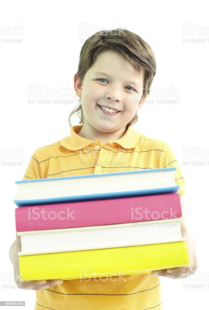 Library goer royalty-free stock photo