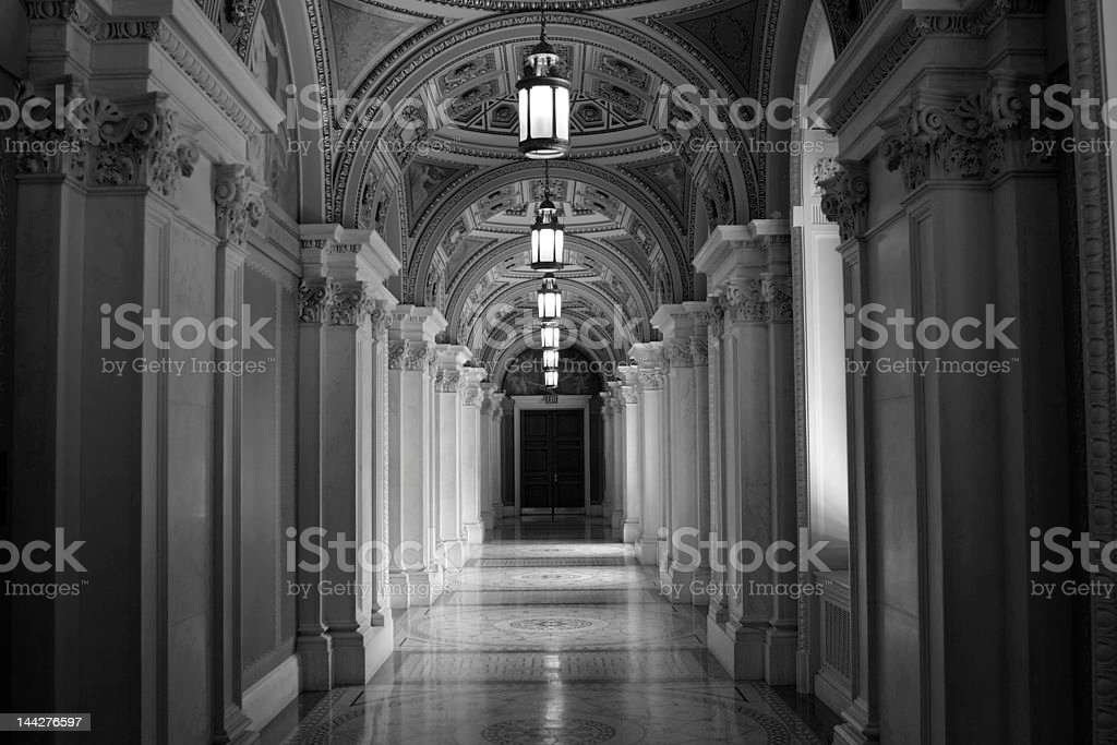 Library Hall royalty-free stock photo