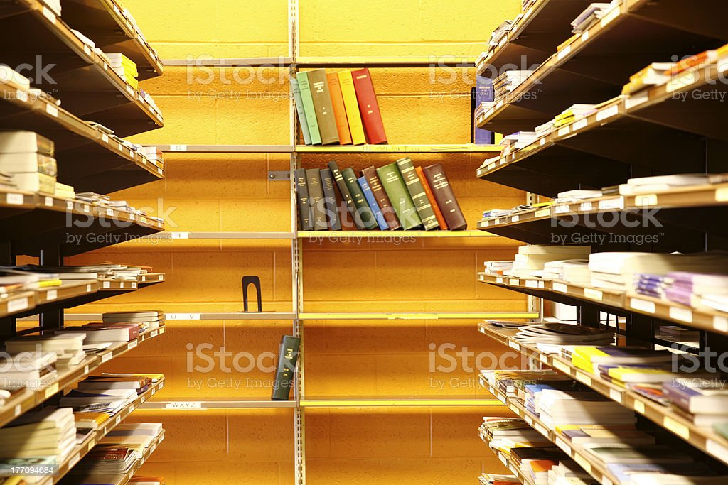 Library interior royalty-free stock photo