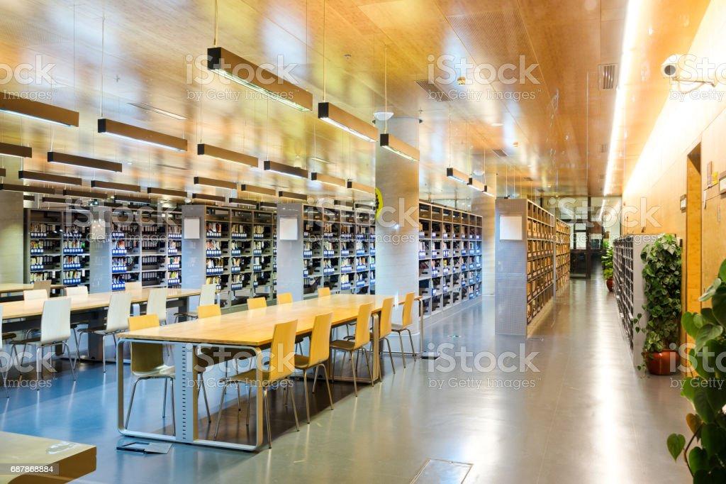 library interior ストックフォト