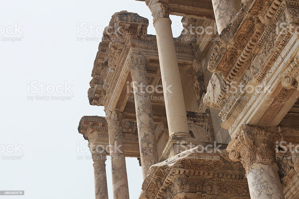 Library Of Celsus at Ephesus in Turkey stock photo