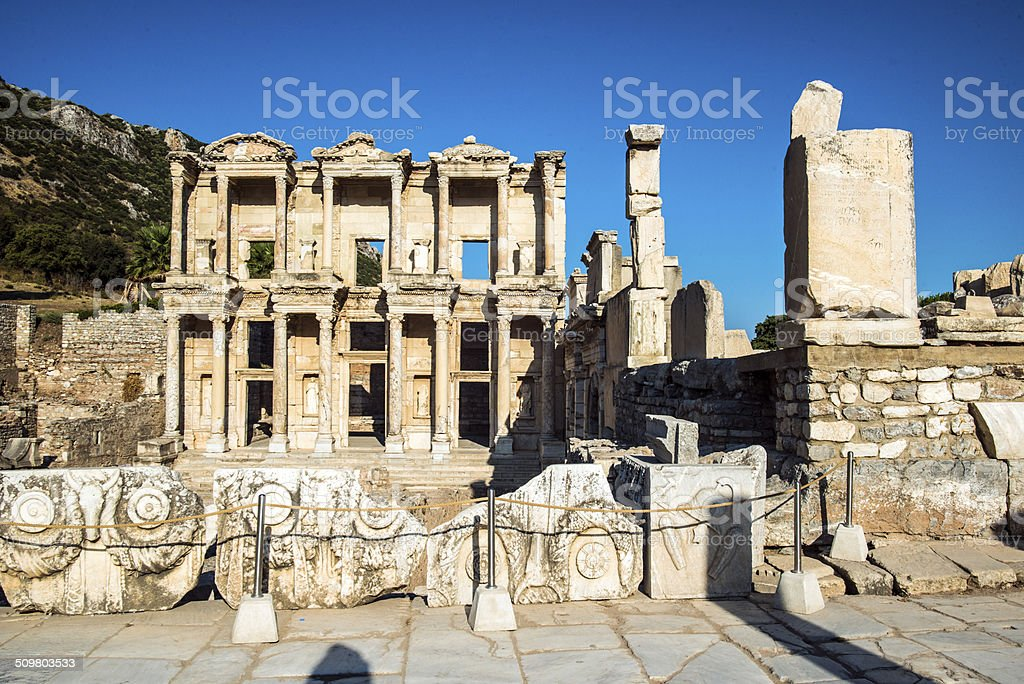 Library Of Celsus at Ephesus stock photo