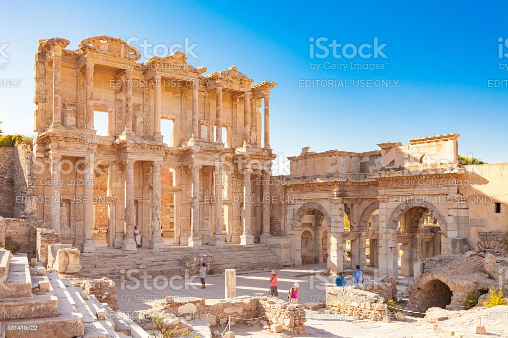 Library of Celsus, Ephesus stock photo
