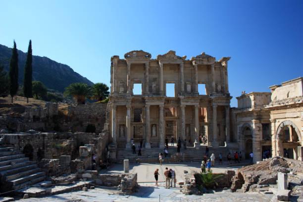 Bibliothek von Celsus Ephesus Türkei – Foto