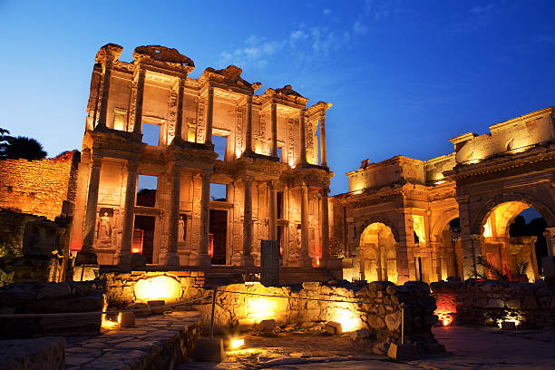 Library of Celsus, Ephesus, Turkey Library of Celsus, Ephesus, Turkey celsus library stock pictures, royalty-free photos & images