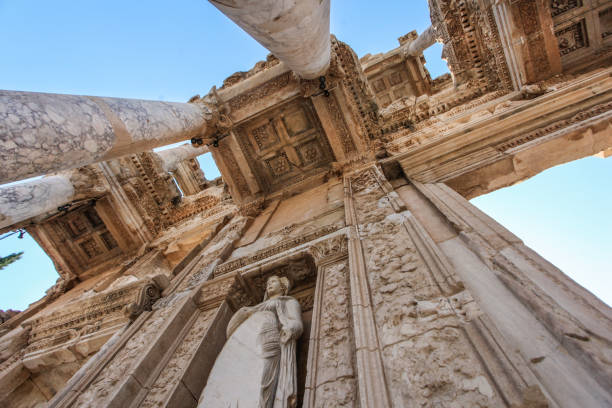 Library of Celsus in Ephesus Library of Celsus in Ephesus, Turkey. celsus library stock pictures, royalty-free photos & images