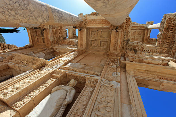 Library of Celsus Library of Celsus, ruins of ancient city Ephesus, Turkey celsus library stock pictures, royalty-free photos & images