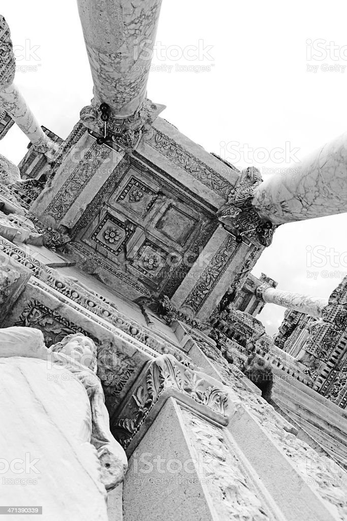 Library of Celsus royalty-free stock photo