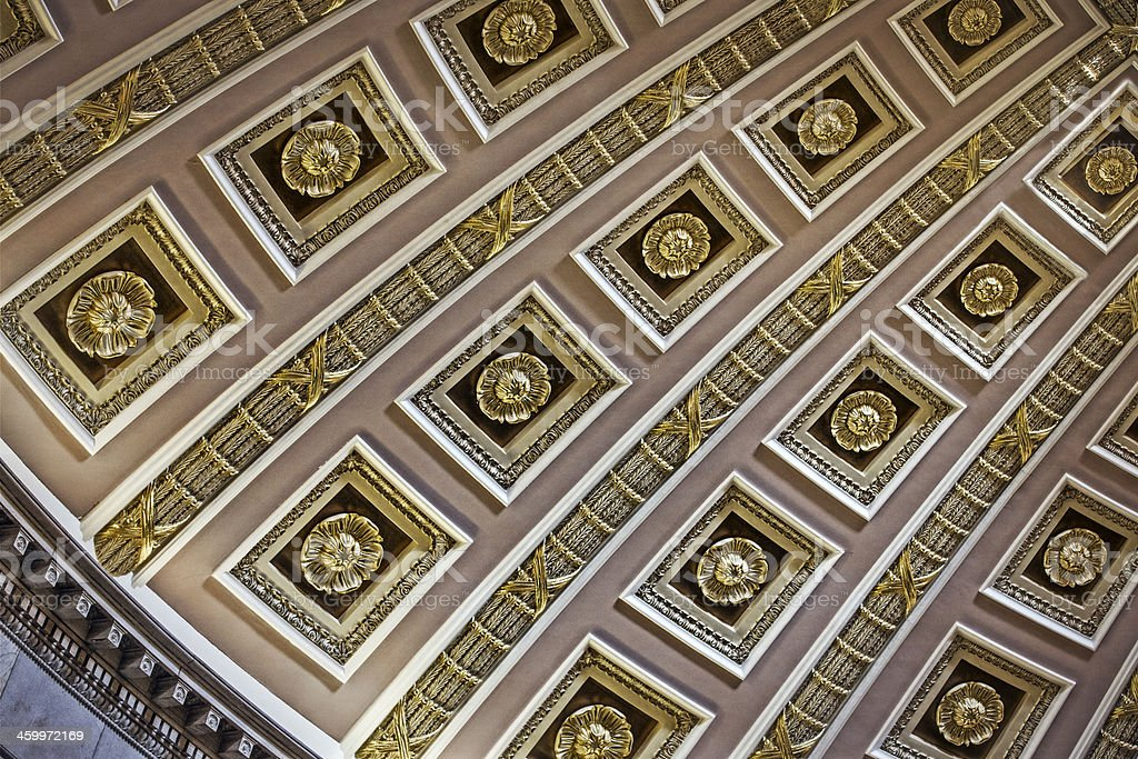 Library of Congress Ceiling in Washington DC stock photo