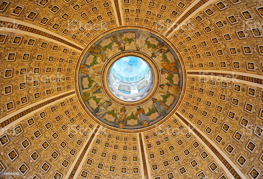 Library of Congress Ceiling stock photo