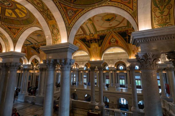 Library of Congress Burgsaal. Washington, DC – Foto