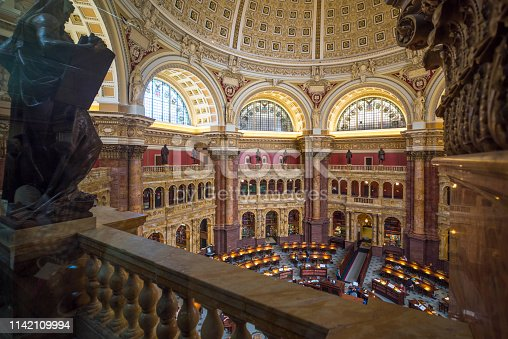Library, Library of Congress, Washington DC, Capitol Hill, USA