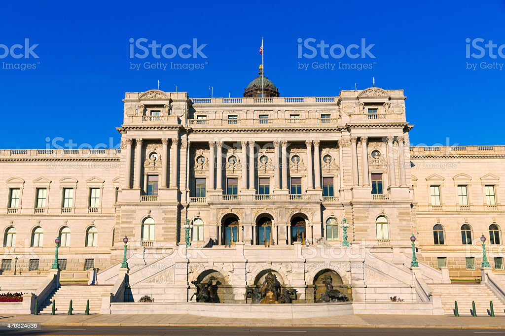 Library of Congress Thomas Jefferson in Washington stock photo