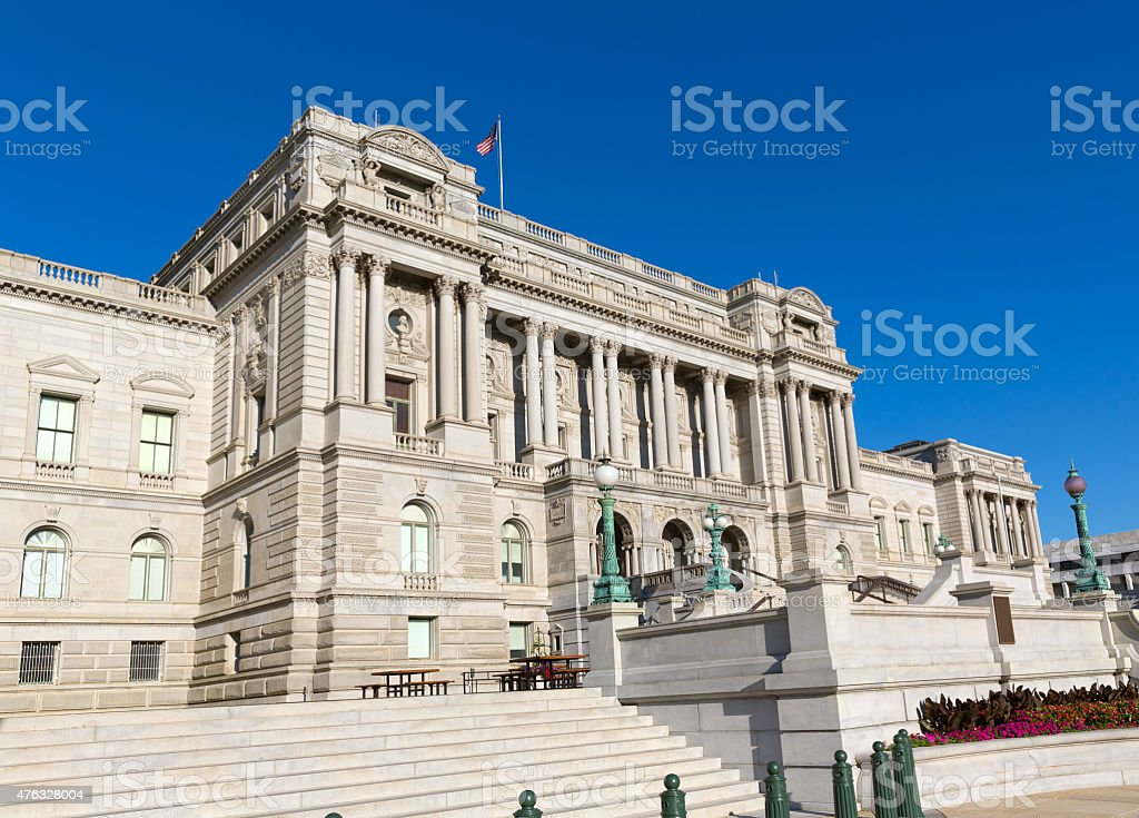 Library of Congress Thomas Jefferson in Washington stock photo
