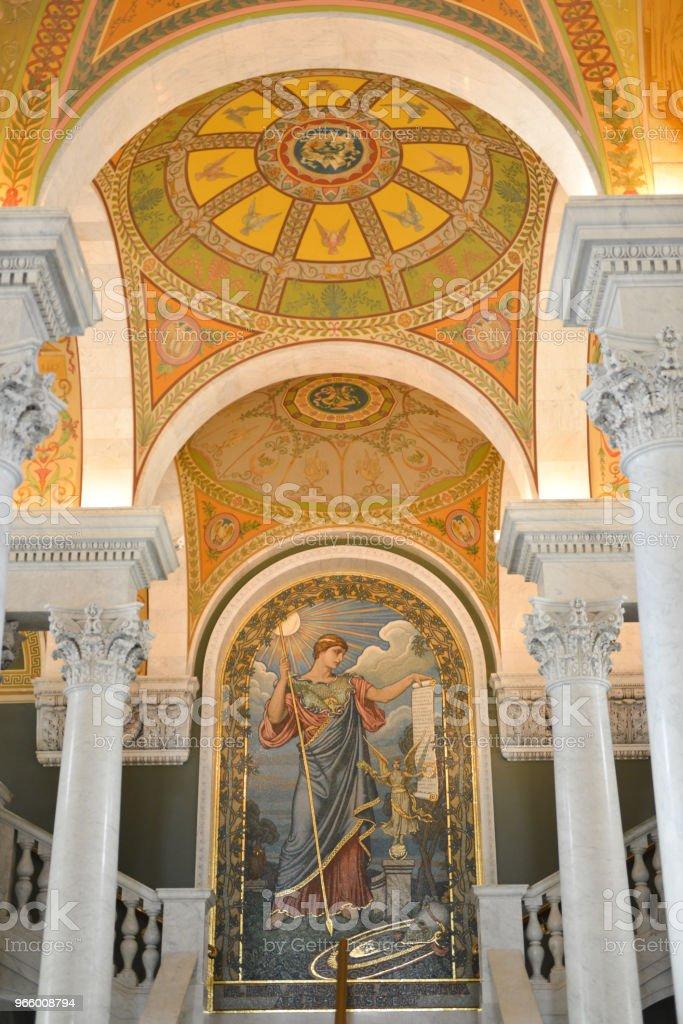 Library of Congress - Washington, DC - Royalty-free Architectural Column Stock Photo