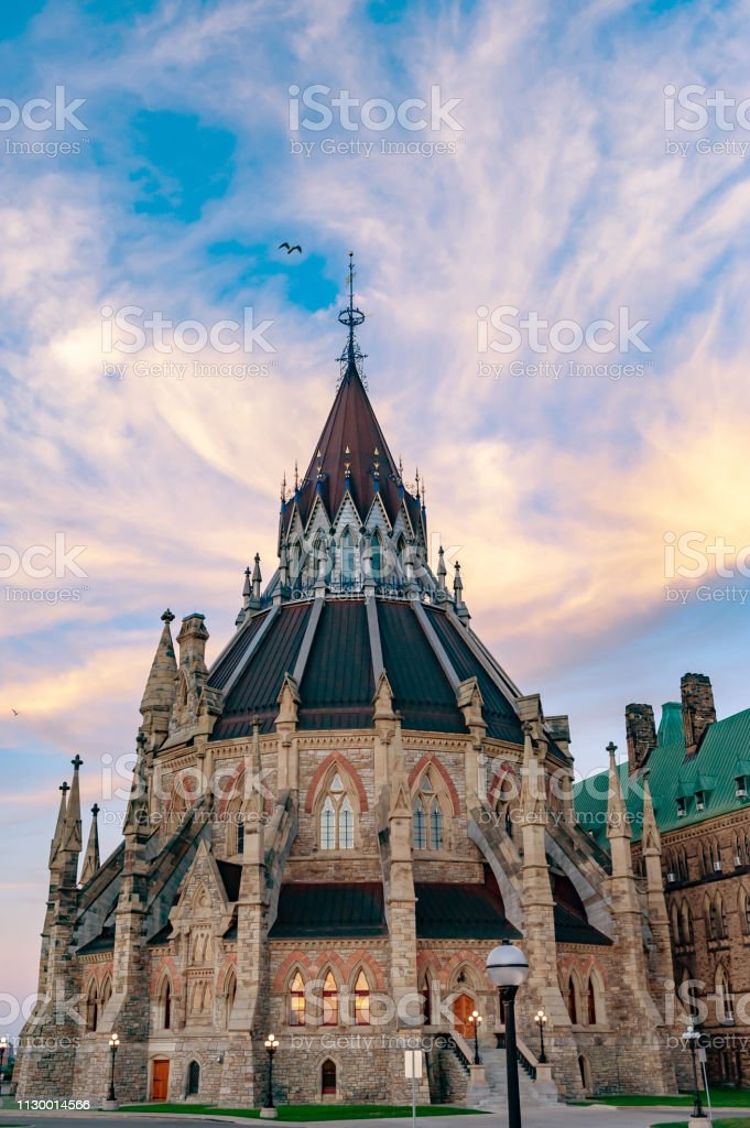 Library of Parliament Hill, Ottawa,Canada stock photo