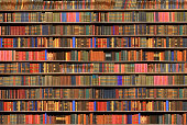 Library with old books. Good as a background.