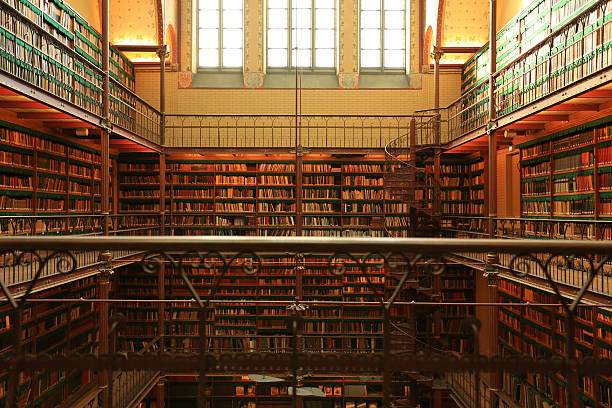Library Large old Dutch library in Amsterdam rijksmuseum stock pictures, royalty-free photos & images