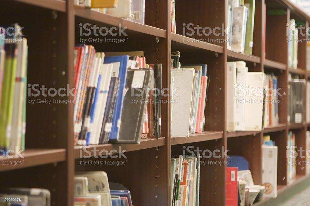 Library Shelves royalty-free stock photo