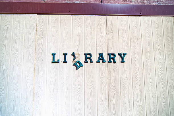 Library Sign stock photo