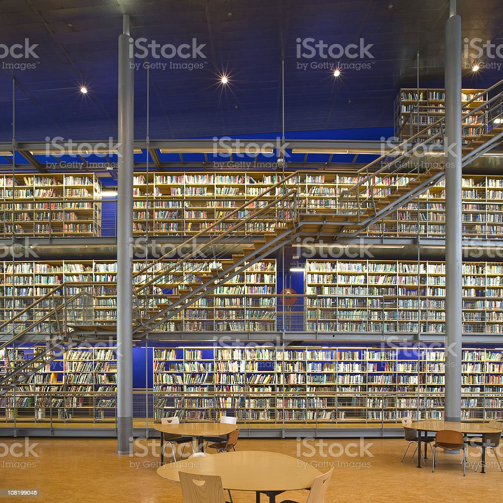 Library stacks royalty-free stock photo