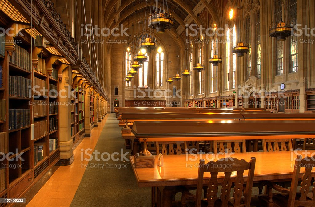 Library Tables stock photo