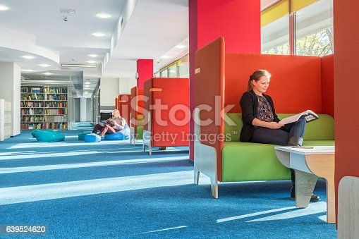 istock Library with individual study area 639524620