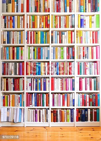 Library with many books