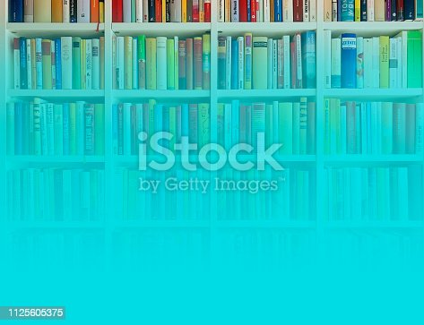 Library with turquoise color gradient