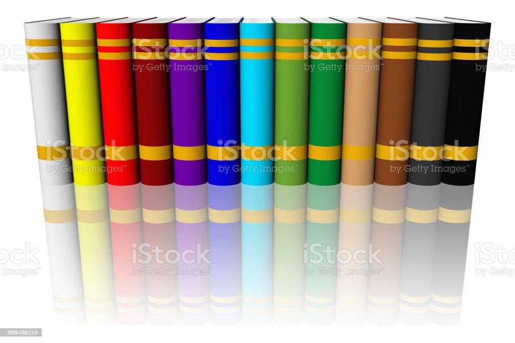 Libreria libri colorati stock photo