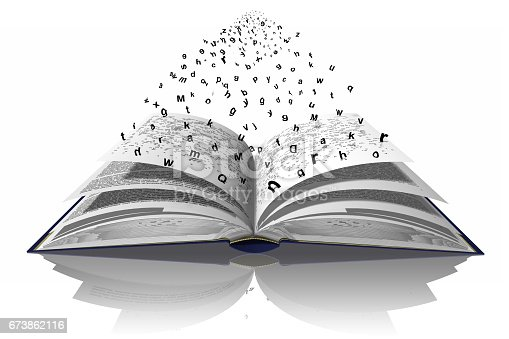 istock Libro Parole Lettere 673862116