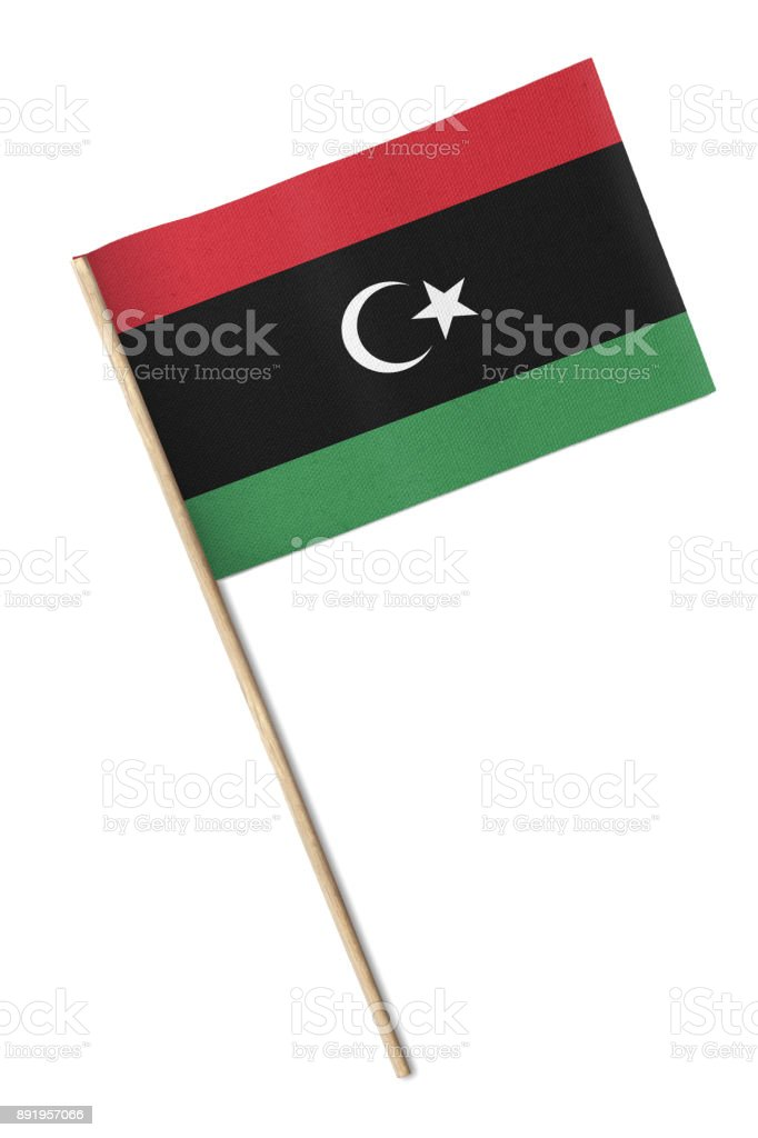 Libya Flag stock photo