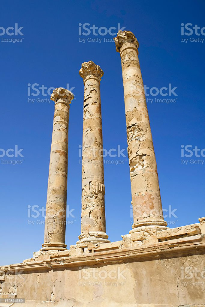 Libya: Roman Columns stock photo