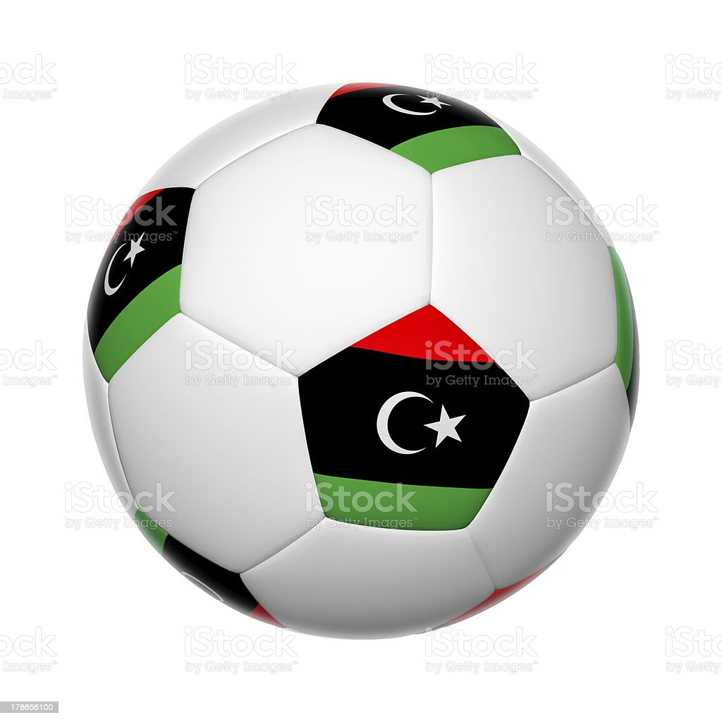 Libya soccer ball stock photo