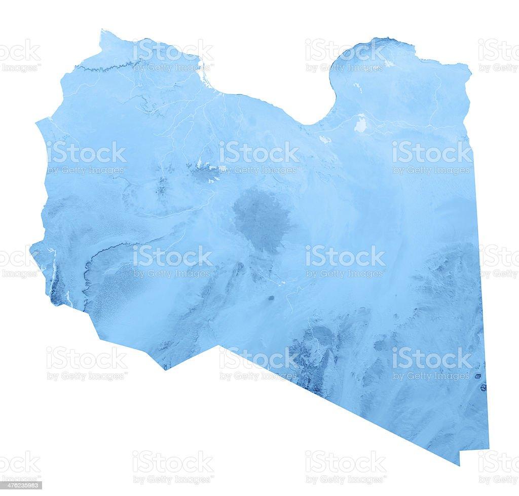 Libya Topographic Map Isolated royalty-free stock photo