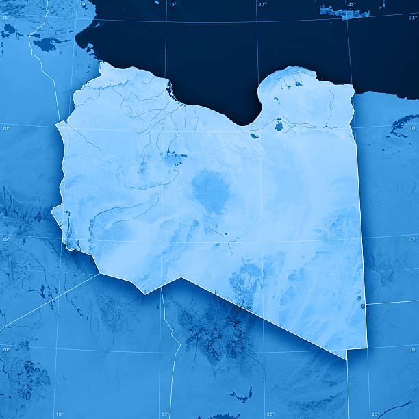 Libya Topographic Map stock photo