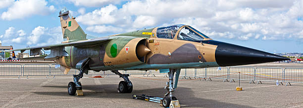 libyan air force mirage f1 reg 502 - defection stock photos and pictures
