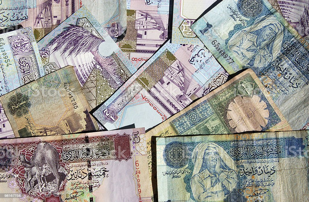 Libyan Banknote Background royalty-free stock photo