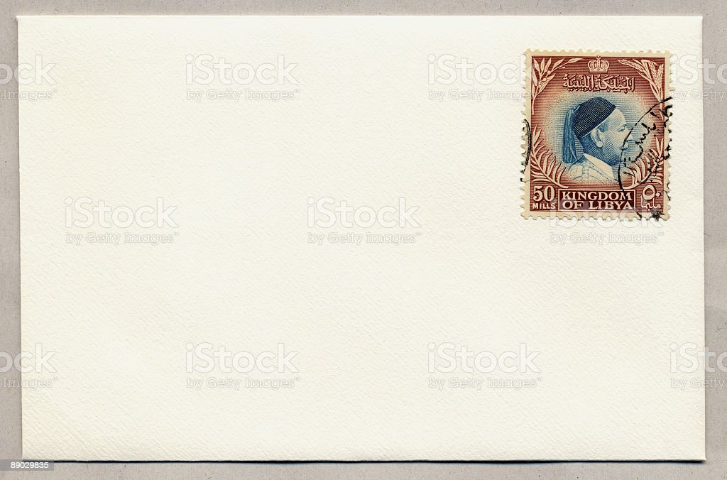 Libyan Mail. royalty-free stock photo
