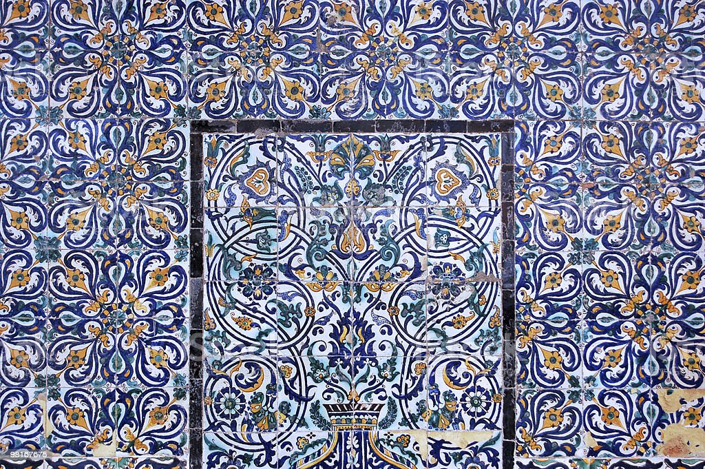 libyan tiles royalty-free stock photo