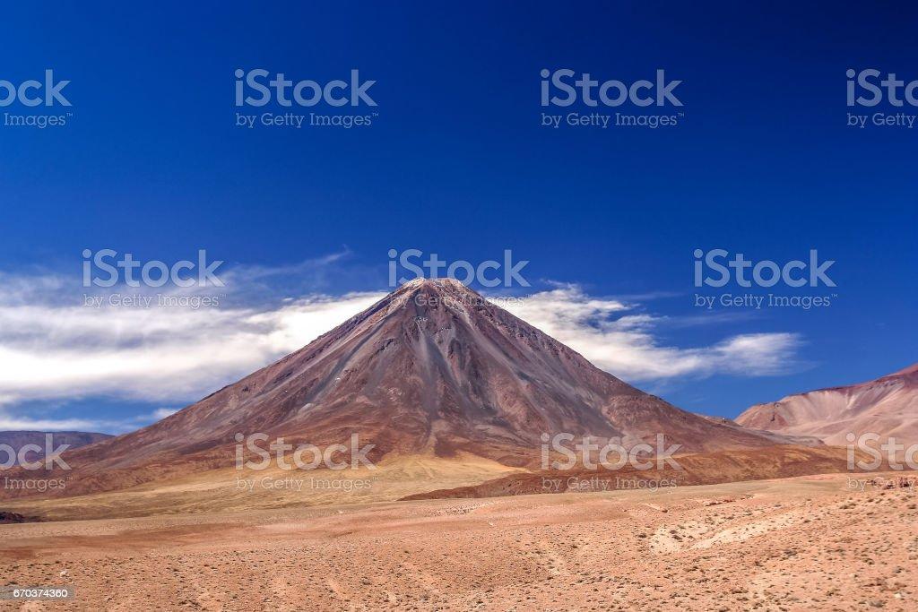 Licancabur Volcano in Bolivia stock photo