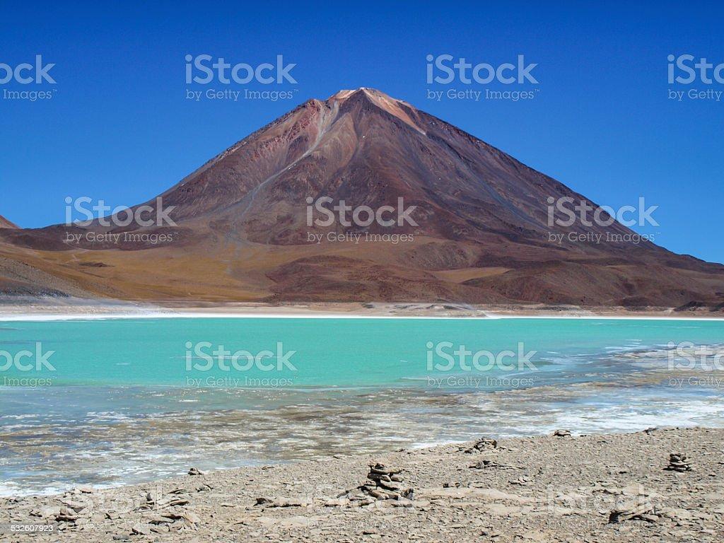 Licancabur volcano stock photo