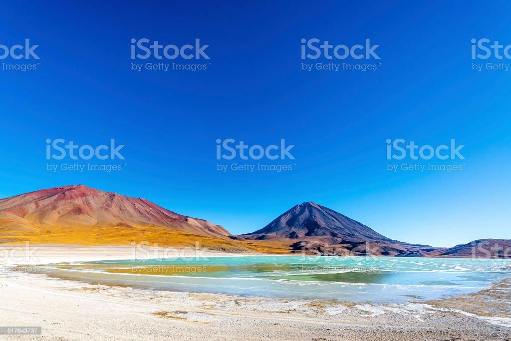 Licancabur Volcano Wide Angle stock photo