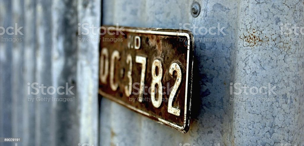 license plate royalty-free stock photo