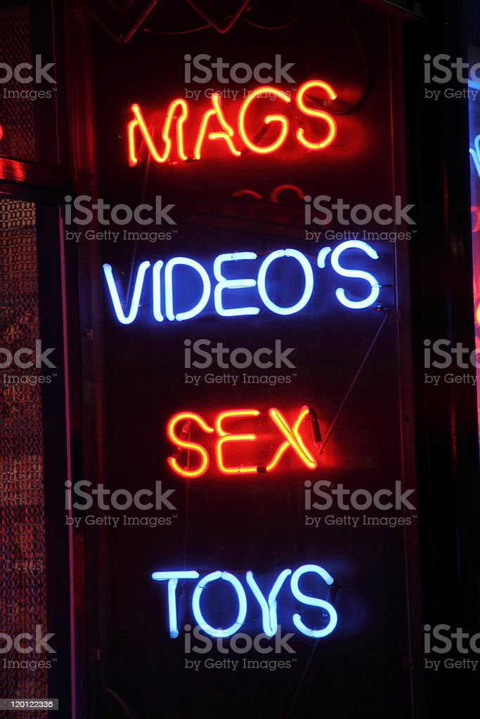 Licensed Sex Shop In A Red Light District royalty-free stock photo