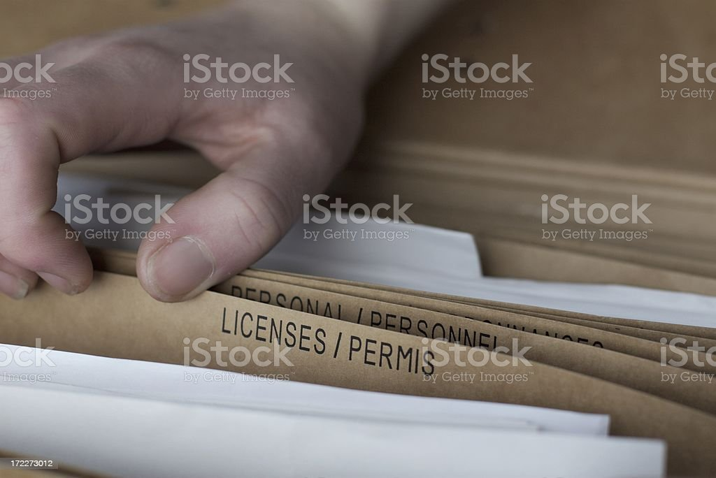 Licenses royalty-free stock photo