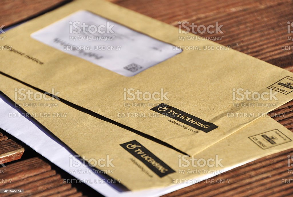 TV Licensing Letters stock photo