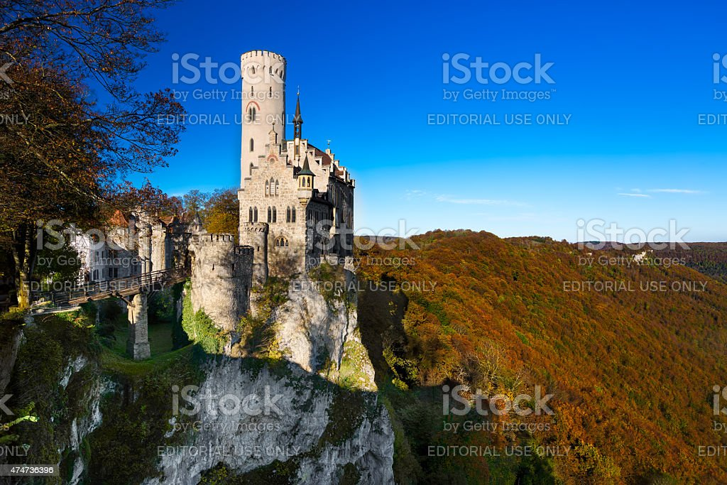 Lichtenstein Castle, Germany stock photo