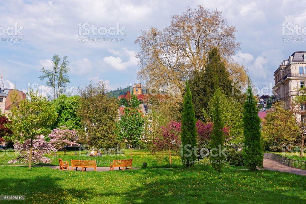Lichtentaler Allee park in Baden Baden in Germany stock photo