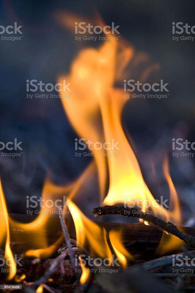 Lick of flame royalty-free stock photo